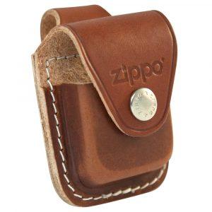 pochette zippo cuir