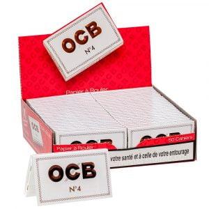 ocb blanc - boite de 50 carnets