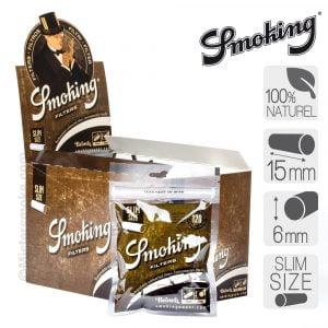 boite de 10 sachets de filtres cigarettes smoking brown