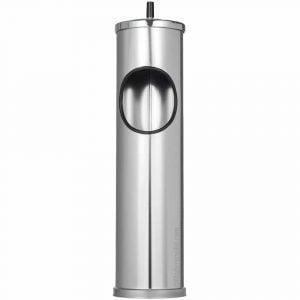 Cendrier corbeille extérieur métal gris