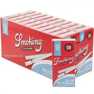 Boîte de 20 paquets de filtres sticks Smoking Extra slim
