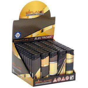 Boite de 50 briquets électroniques Premium - Laser Gold
