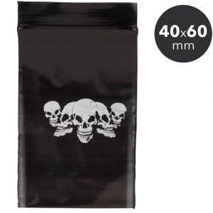 Sachet hermétique Zip 40x60 mm - Noir