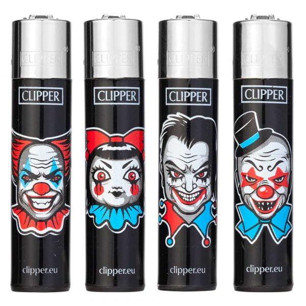 Boite de 48 briquets Clipper Décorés - Horror clown