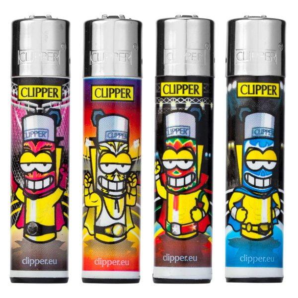 Lot de 4 briquets Clipper Maxi - Catch