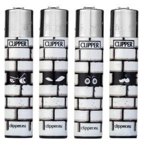 Lot de 4 briquets Clipper Maxi - Walls
