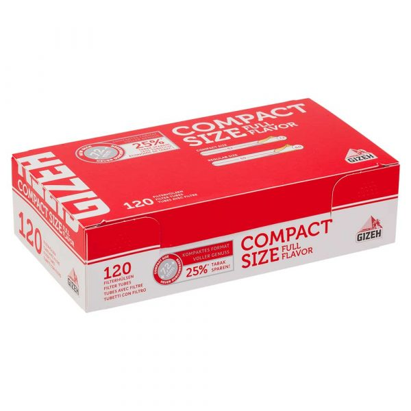 Boite de 120 tubes Gizeh Compact size