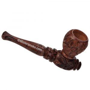 Pipe Chillum en bois sculpté