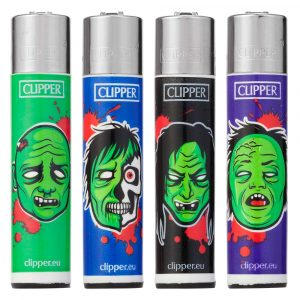 Lot de 4 Clipper - Horror Zombie