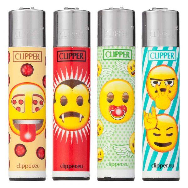 Lot de 4 briquets Clipper Maxi - Emoticone