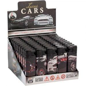 Boite de 50 briquets électroniques décorés - Luxus cars