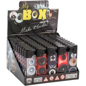 Boite de 50 briquets électroniques décorés - Box
