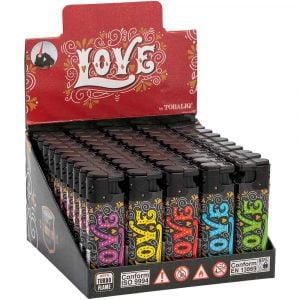 Boite de 50 briquets électroniques décorés - Love graffiti