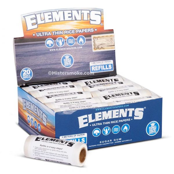 Boite de 20 recharges rolls Elements King Size